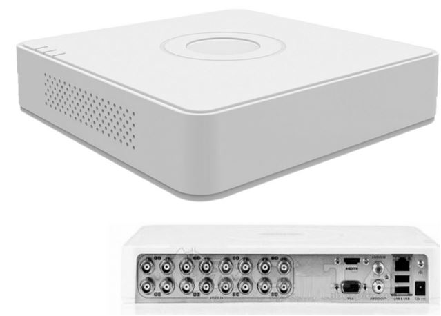 16cs 2MP, HDTVI/AHD/Analóg, HIKVISION DS-7116HGHI-F1
