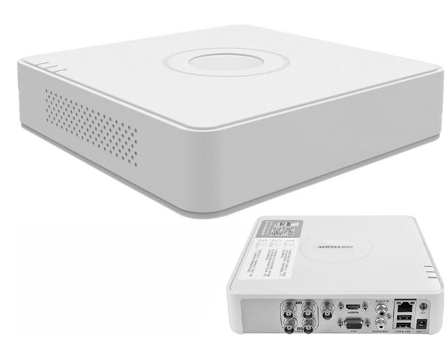 4cs 2MP, HDTVI/AHD/Analóg, HIKVISION DS-7104HQHI-F1/N